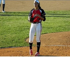 Cat Osterman on the mound for the USSSA Pride during the 2014 NPF season